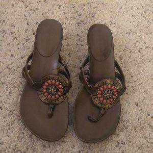 Andrew Geller beaded sandal size 8